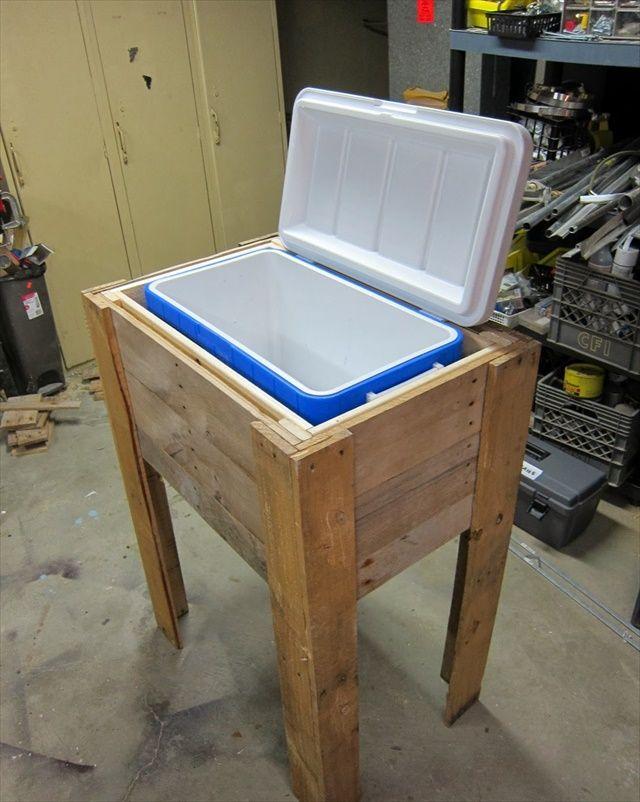 10 Diy Wood Pallet Cooler Design Wood Cooler Cooler