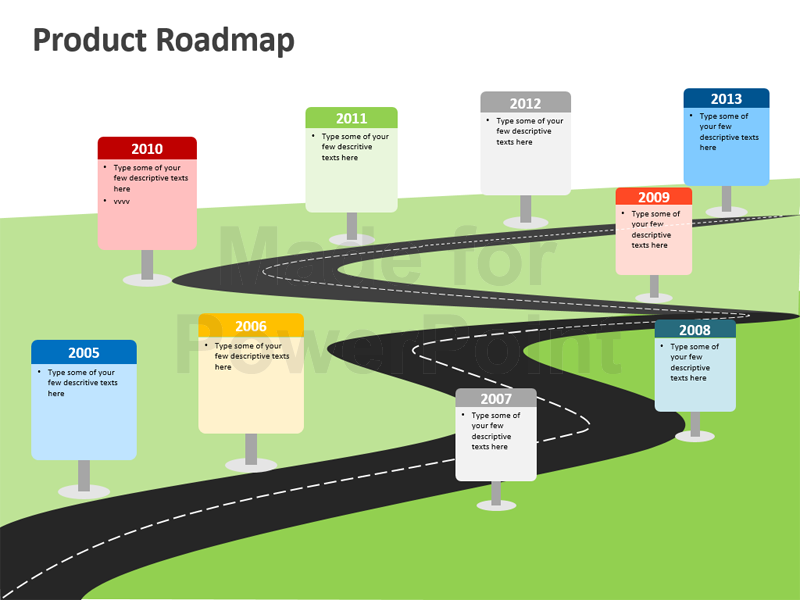road map powerpoint template road map powerpoint template free