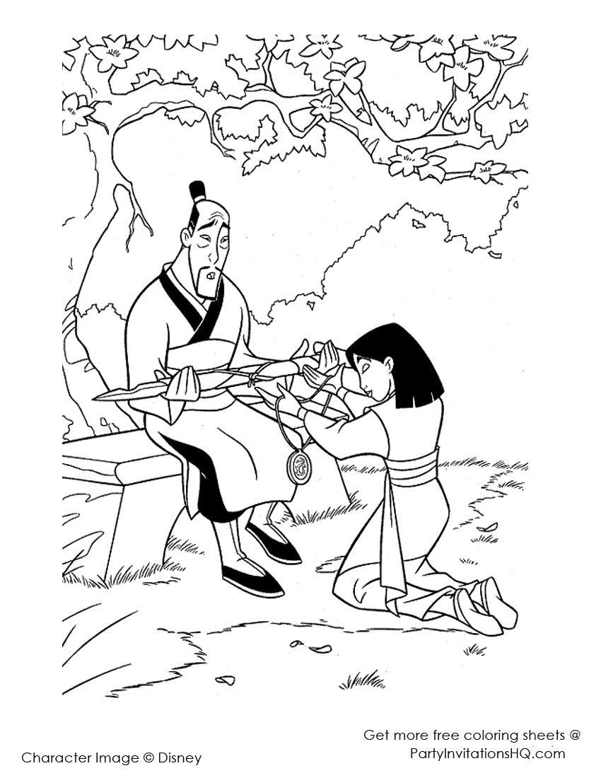 Mulan coloring pages mulancoloringpages coloriage