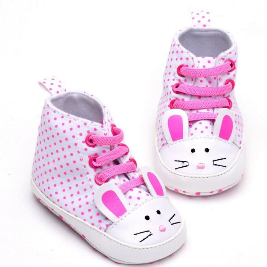 615e7d6ec329e Click to Buy    Baby girls Shoes Infant Cartoon animals rabbit Polka Dot  Cute Exterior Lace-up Shoes First Walkers Crib Shoes for 0-18 month   Affiliate.