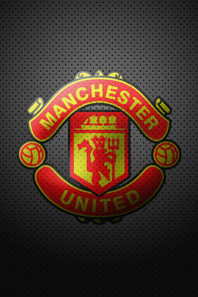 Black Manchester United Logo Wallpaper
