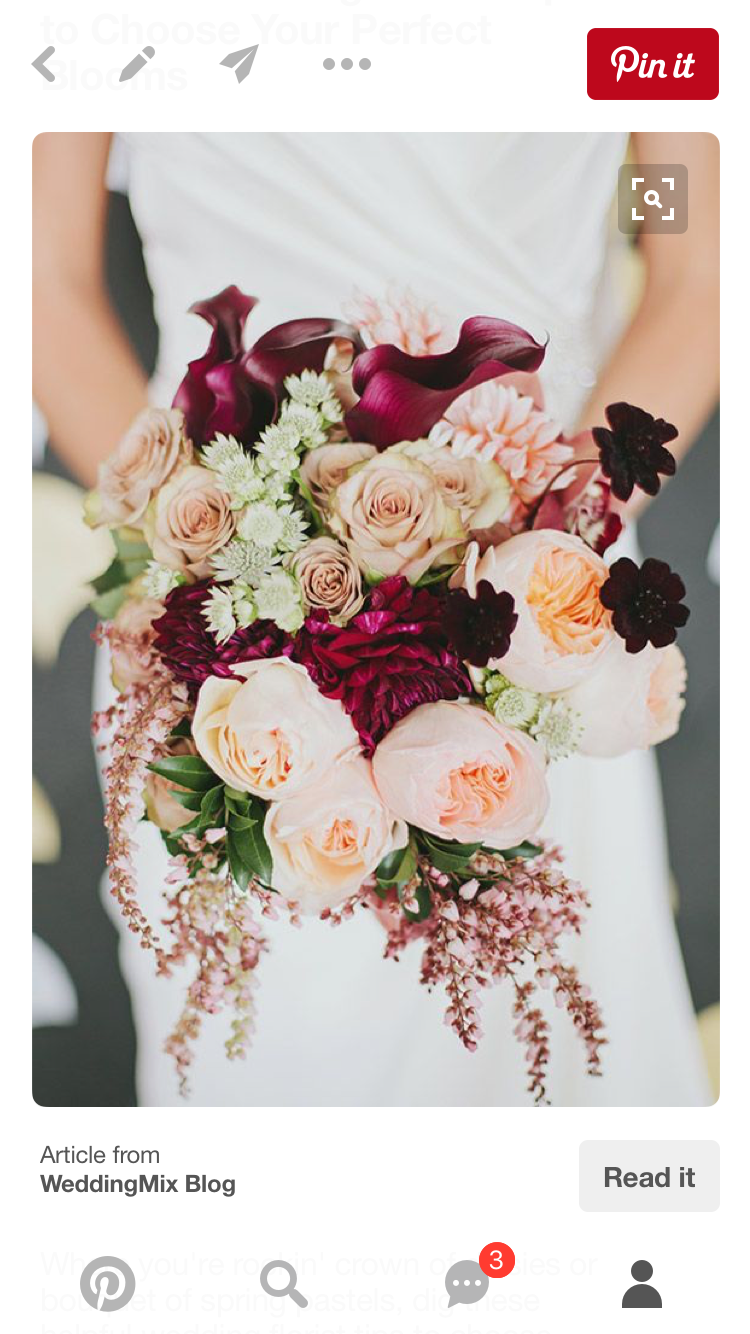 wine & blush wedding flowers | cranberry wedding, fall