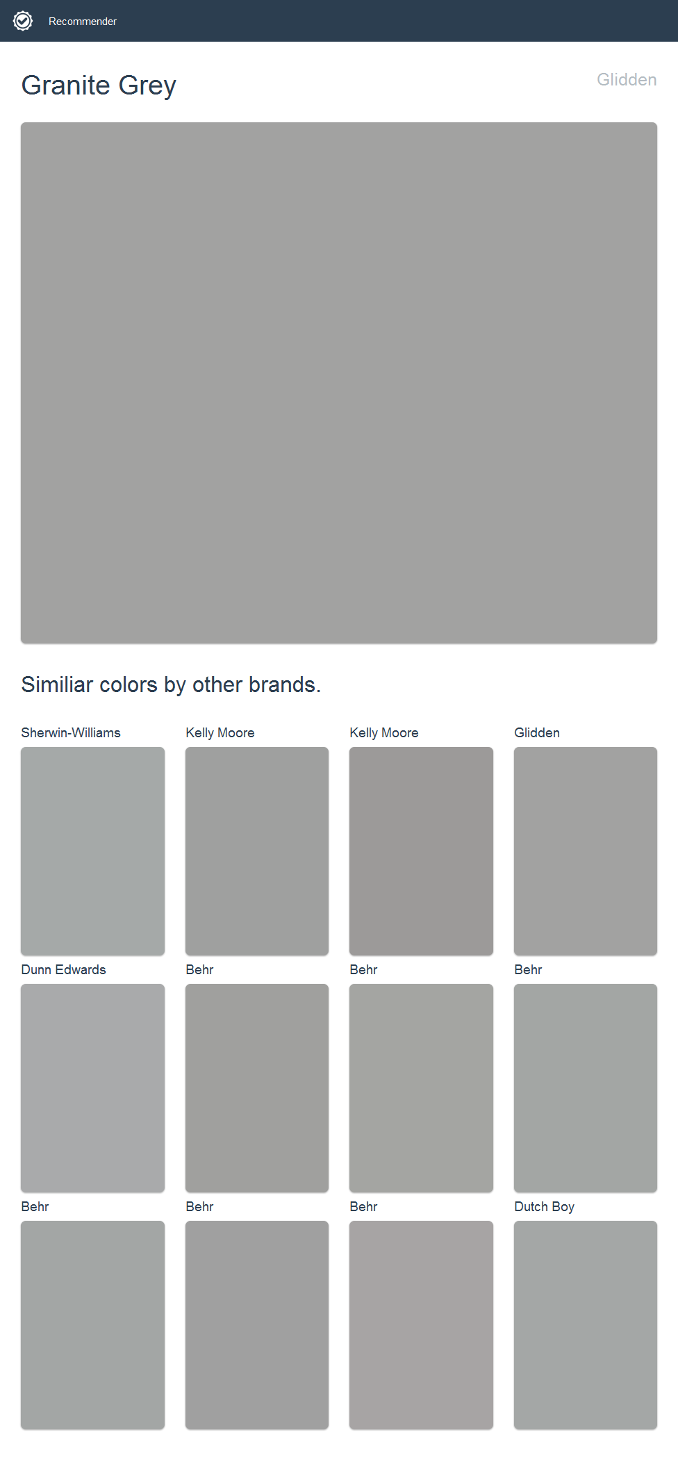 Granite Grey Paint >> Granite Grey Glidden Click The Image To See Similiar Colors By