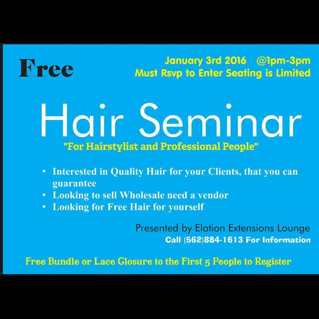 We're hosting a Hair Seminar for those who's been asking and wanting to get involved Go to http://ift.tt/1PZYbil to get your tickets Seats will fill up #limited #lahair #ochair #labraider #ocbraider #ocstylist #lahairstylist #iehair #sdhairstylist #losangeles #longbeach #inspiration #brazilianhair #peruvianhair #virginhair #bundledeals #malaysianhair #indianhair #curlyhair #wavyhair #straighthair #laceclosure #frontal by elationhair