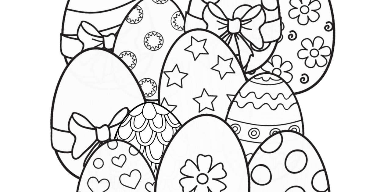 Free Easter Coloring Page Amazon BIG