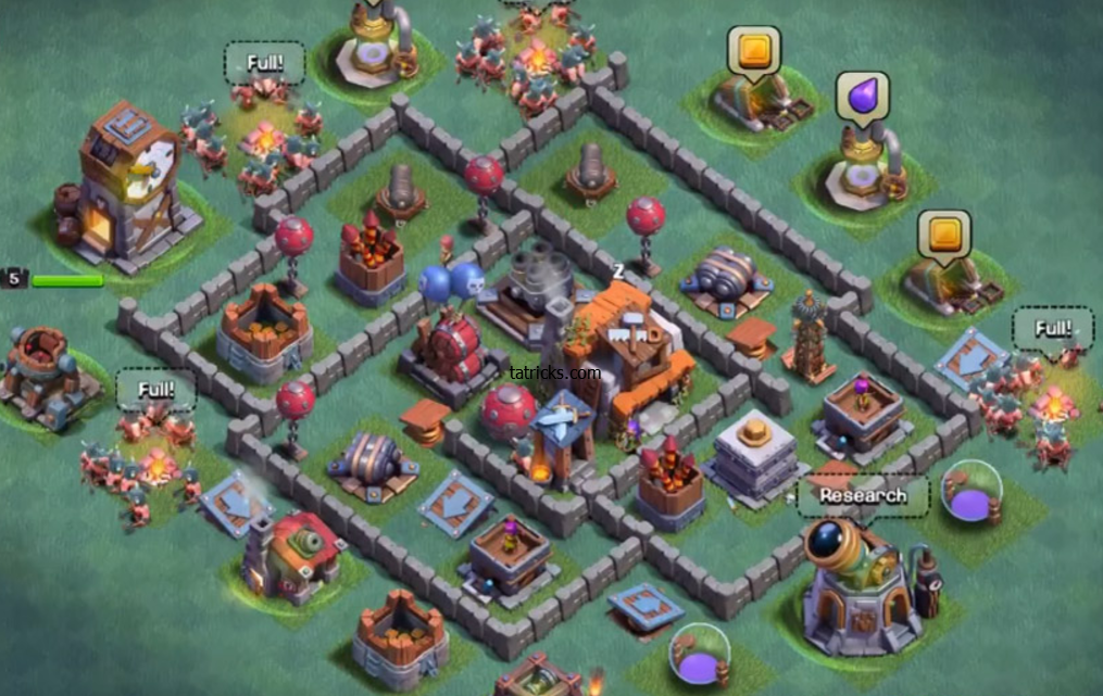 Builder Hall 5 Base Bh5 Clash Of Clans Clan Layout