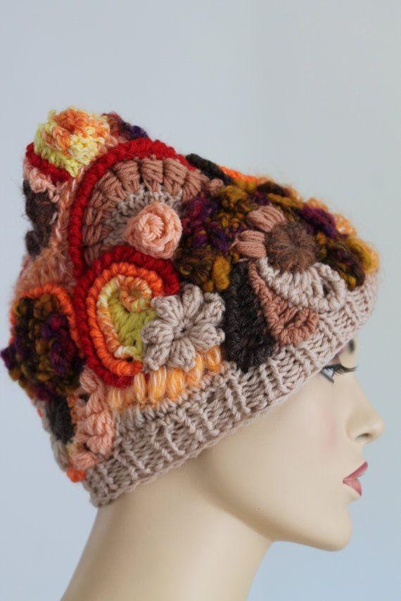 Freeform Crochet Hat Winter Accessories door levintovich