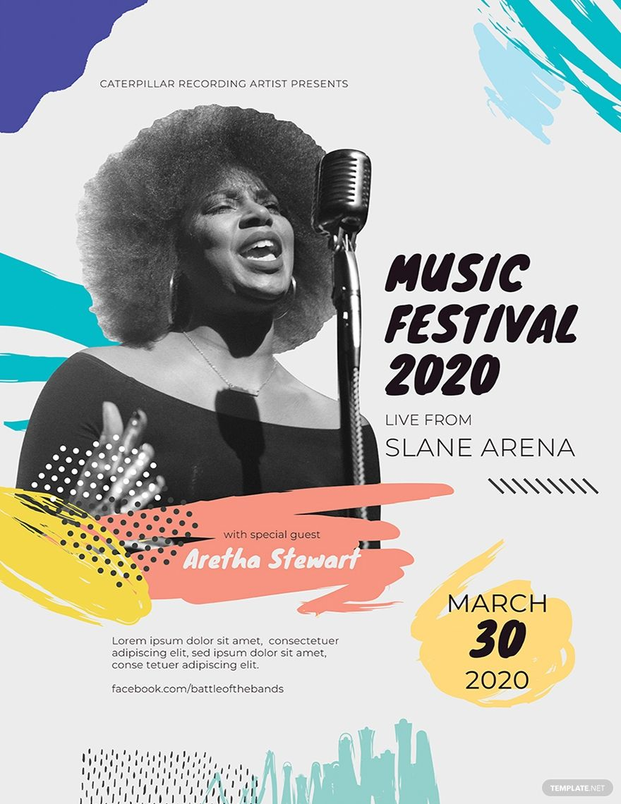Free Music Festival Concert Poster Template #AD, , #Paid, #Festival, #Music, #Free, #Template, #Poster
