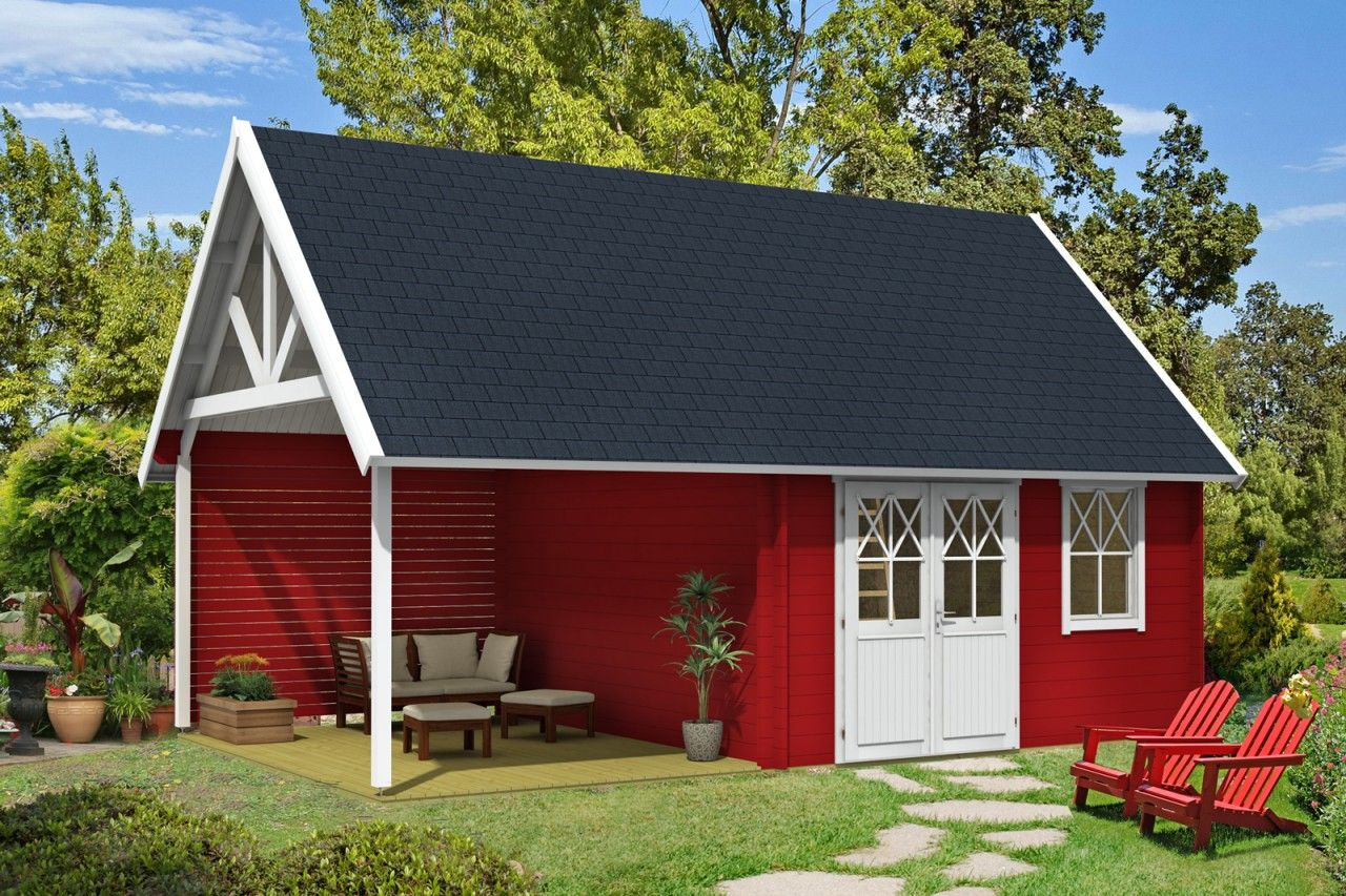 Skandinavische Gartenhäuser schwedenhaus 44 iso mit anbau skandinavisch schwedenhaus und