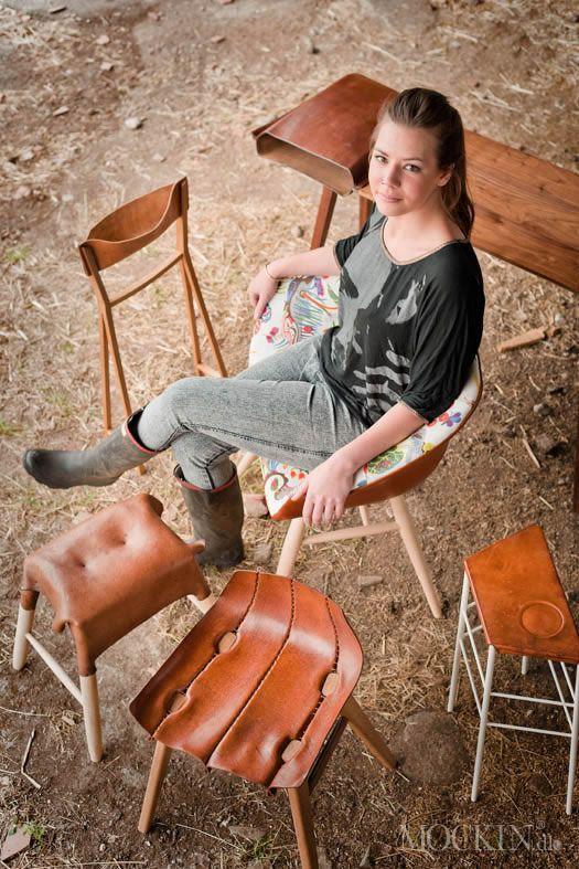Disse fantastiske rå og spændene lædermøbler er designet af Tortie Hoare. Et navn du måske ikke kendte før nu, men et navn der i sidste måned blev slået fast med prisen og titlen