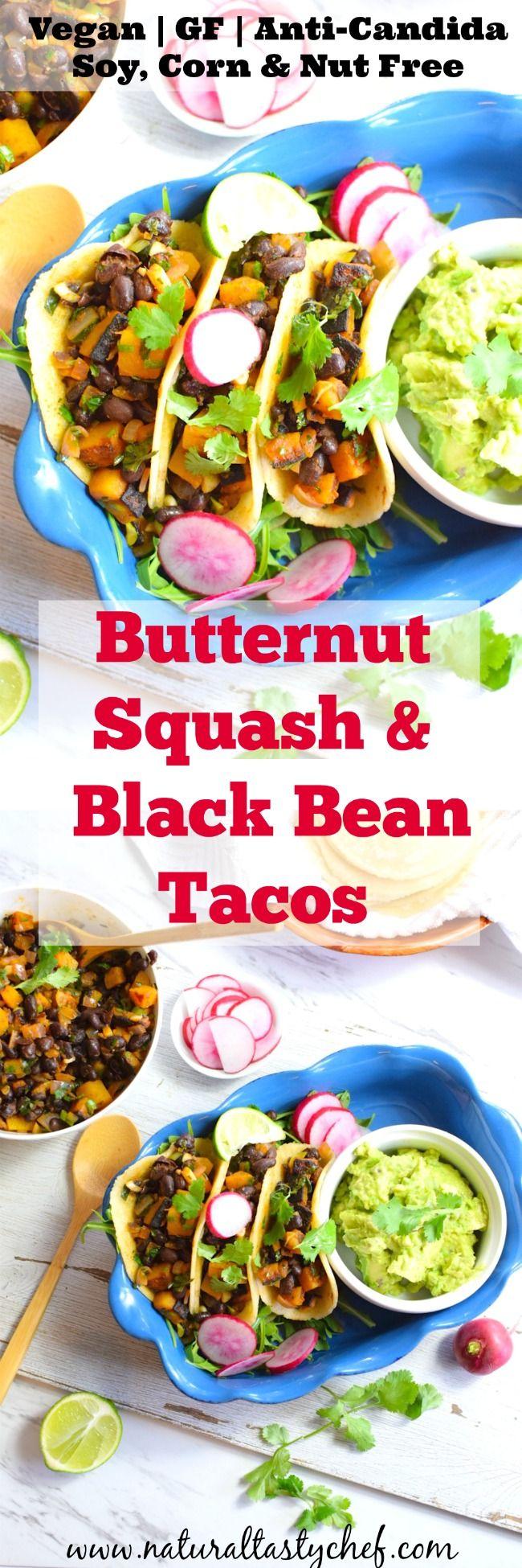 Butternut Squash and Black Bean Tacos | Recipe | Vegan