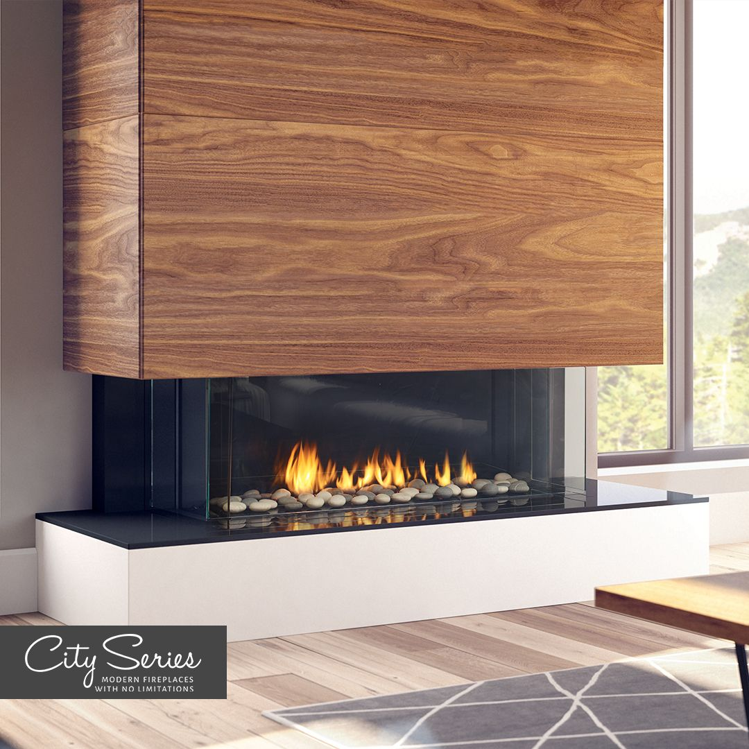 Regency City Series San Francisco Bay 40 Designed To Maintain A Cool Wall Contemporary Fireplace Designs Contemporary Fireplace Decor Contemporary Fireplace