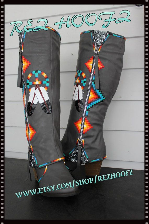 6a0948a1967 Rez Hoofz Hand Painted Boots size 9 ready to ship One Of a Kind Only ...