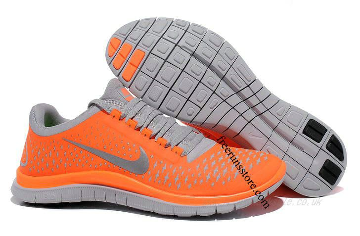 new product 59382 9aa75 Cheap Nike Free 3 V4 Men s Running Shoes (511457-800) Total Orange Reflect  Silver-Wolf Grey RS-053