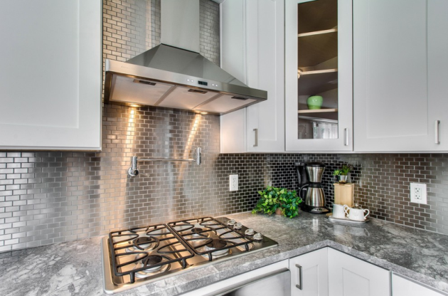 Stainless Steel Mosaic Tile Tower Road Kitchen In 2019 Metal
