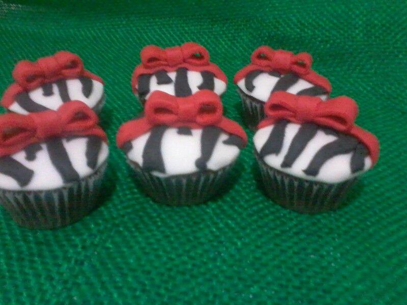 Mini cupckes zebra