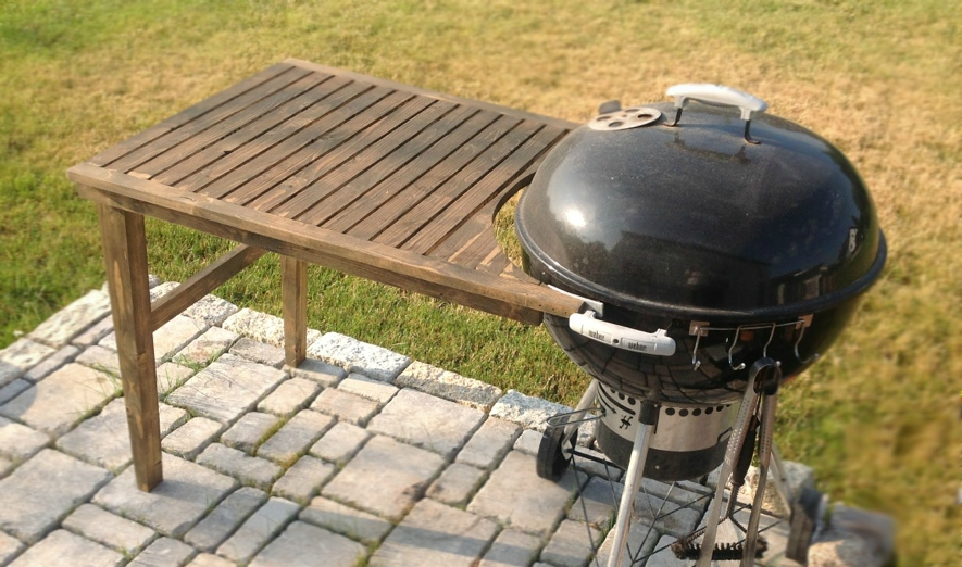Grilltisch Fur Weber Kugelgrill 57 Cm Grill Table Grill Area Outdoor Decor