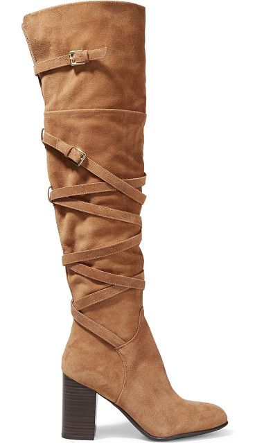 On SALE at 50% OFF! sable suede over-the-knee boots by Sam Edelman. US sizing Sam Edelman tan Sable boots . Stacked heel measures approximately 90mm/ 3.5 inches . Suede (Goat) . Slit ba...