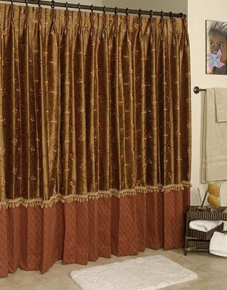 Custom Drapes And Valances | How To Measure For Your Custom Shower Curtain.