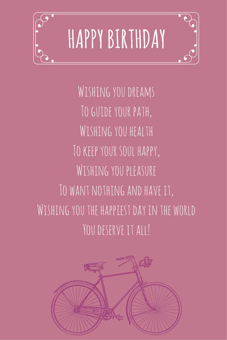 Wishes that Rime Happy Birthday Poems Happy birthday
