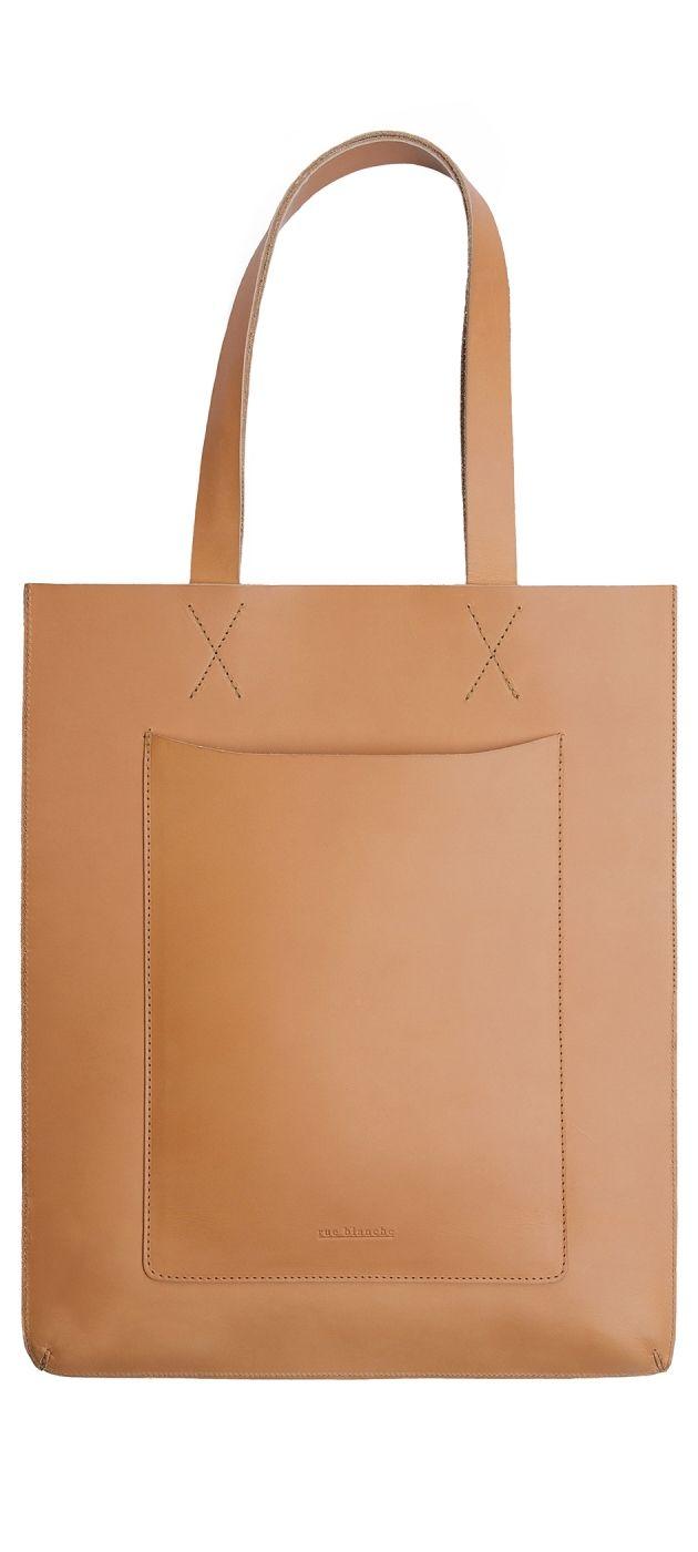 12c104a3ceb8 Lederen Draagtas naturelleder   leather   Pinterest   Cabas cuir ...
