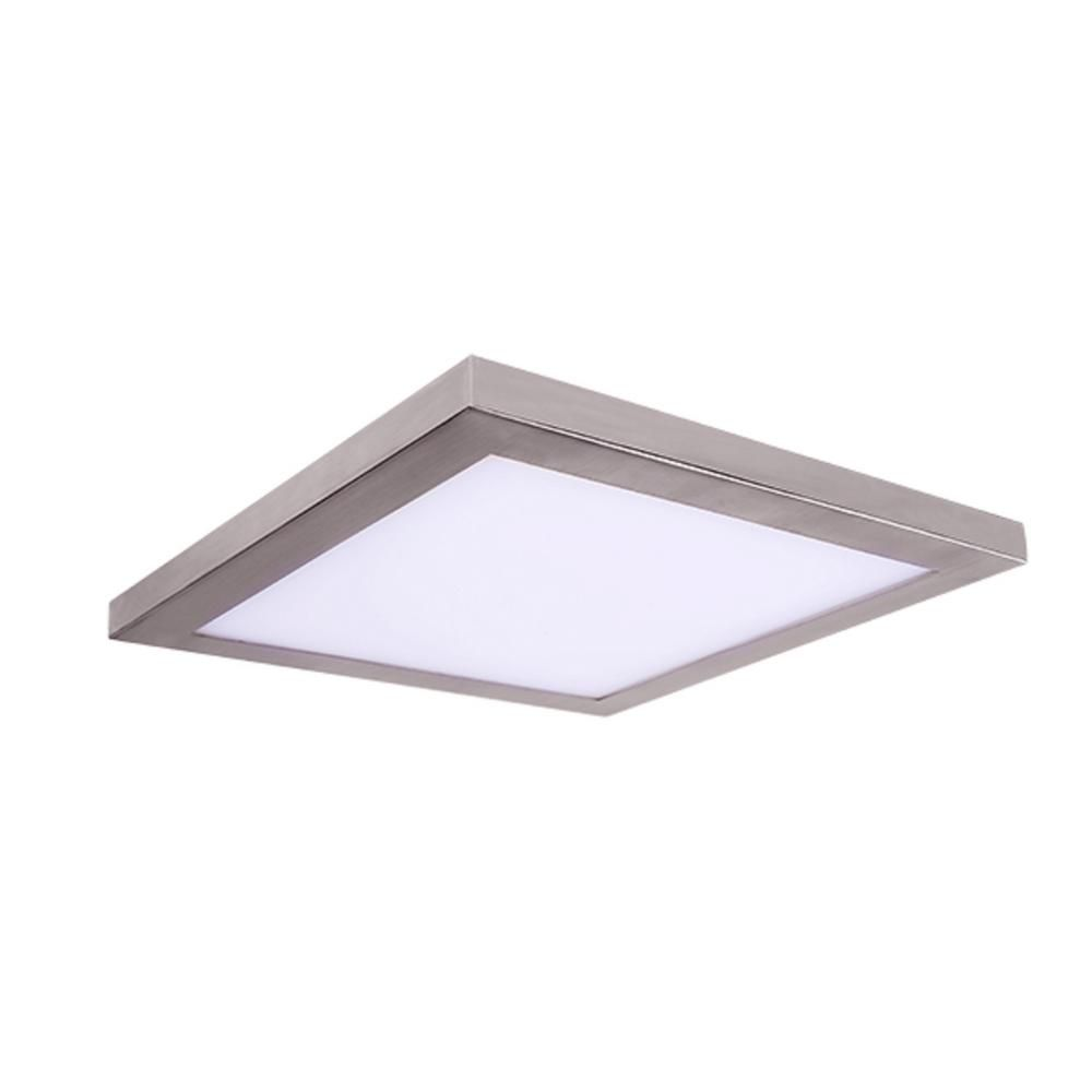 Amax Lighting Square Platter Light Length 13 In Nickel New Construction Recessed Integrated Led Trim Kit Square Fixture Ceiling Fixtures Light Fixtures Lens Aperture