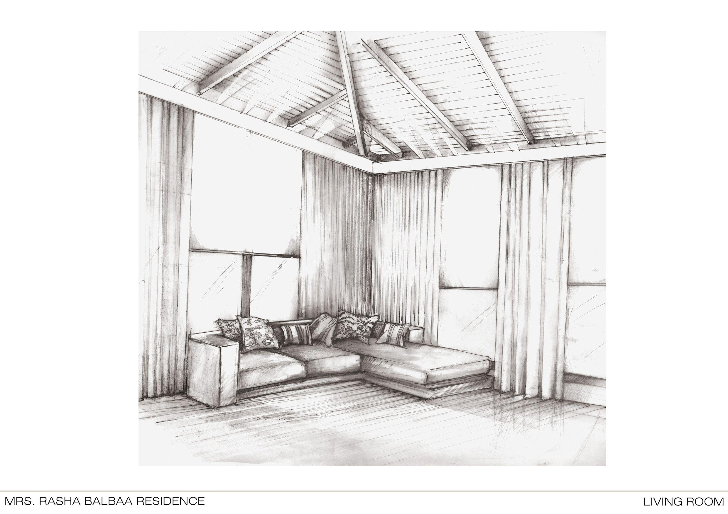 Bedroom sketch by Nour Hassouna | Bedroom suite delivered 2009 ...