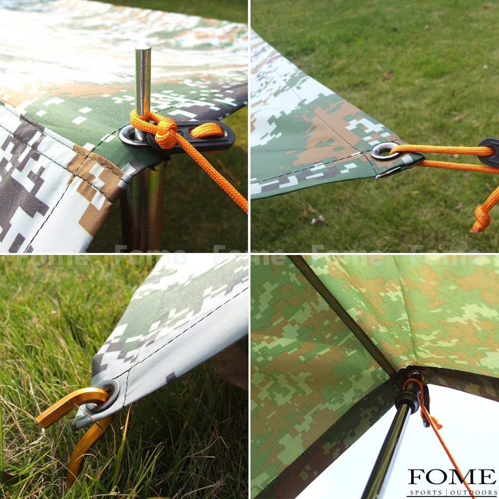 Camping Tarpfome Waterproof Portable Outdoor Awning Sunshade Tarp Cover Tent Shelter Rain Survival