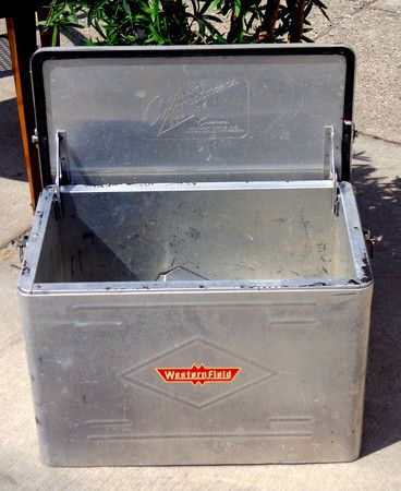 1950s Aluminum Cooler, Westernfield Brand, Insulated Ice Chest