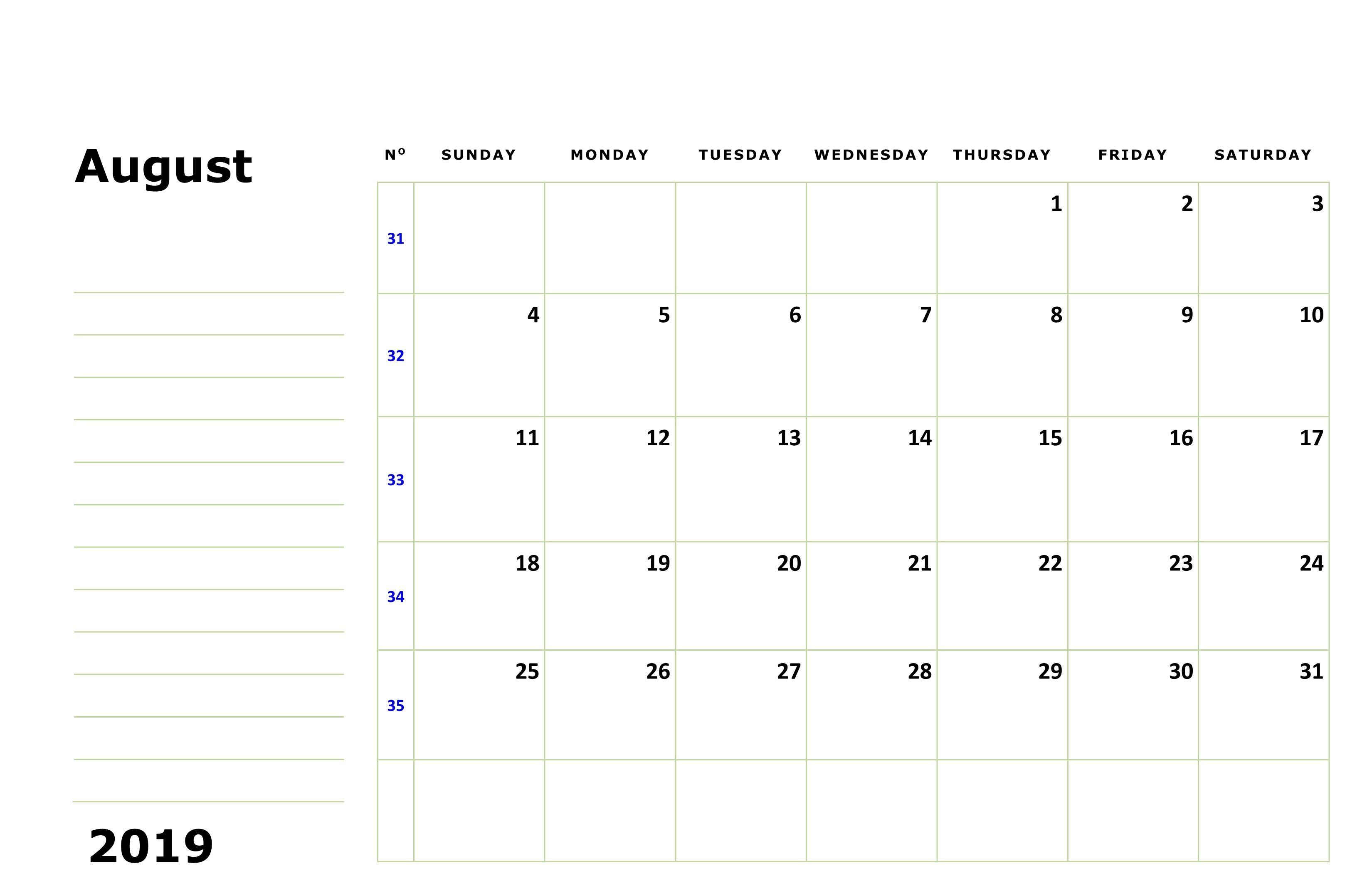 Free Printable August Holidays 2020 Calendar Us Uk Canada