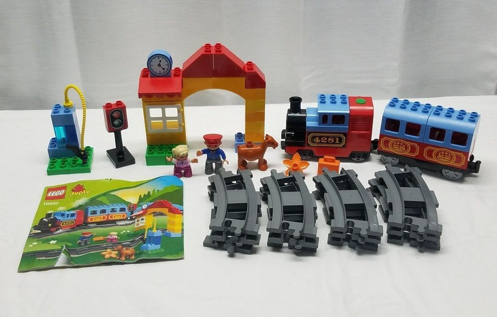 Lego Duplo 10507 Complete Town My First Train Set Conductor Gas