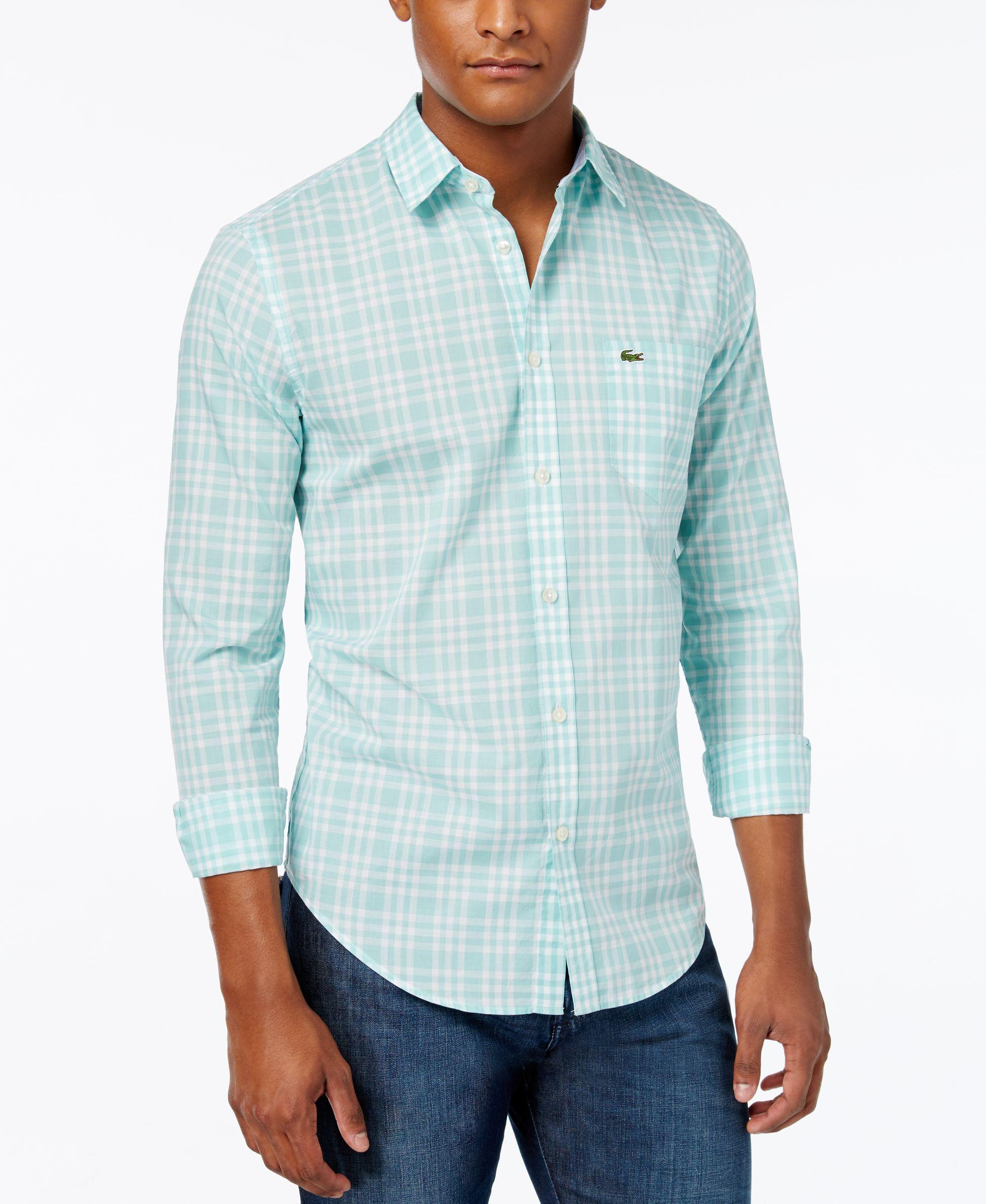 Lacoste Men S Check Poplin Long Sleeve Shirt Casual Button Down Shirts Men Macy S Long Sleeve Shirts Casual Long Sleeve Shirts Lacoste Men [ 2378 x 1947 Pixel ]