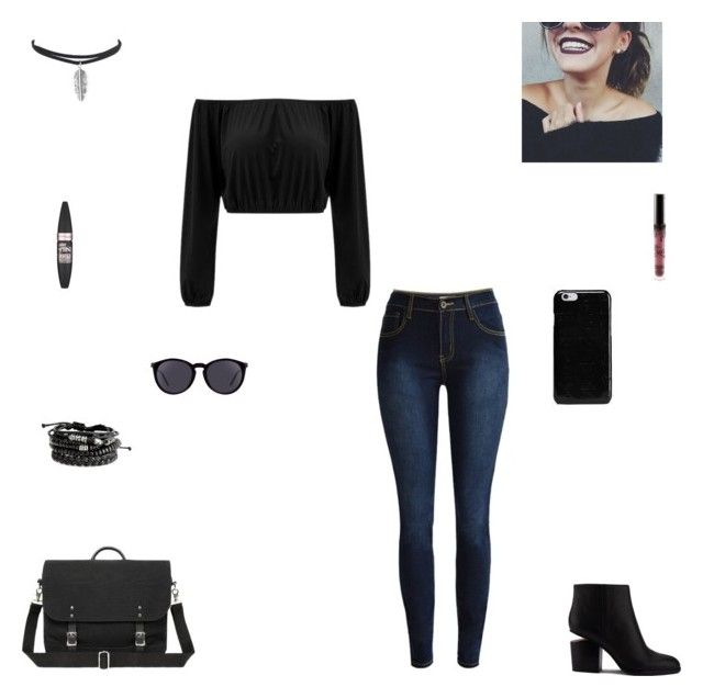 """""""ootd #22"""" by synclairel ❤ liked on Polyvore featuring Maison Margiela, Maybelline, Kylie Cosmetics, Alexander Wang, Yves Saint Laurent, Summer, cute, casual and ootd"""