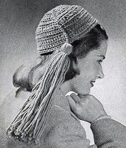 Rug Yarn Calot ~ Free Vintage Crochet