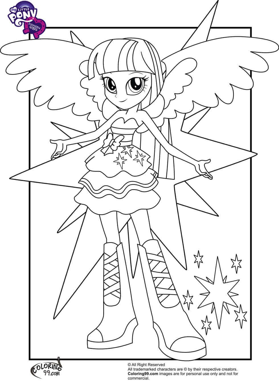 Twilight Sparkle From My Little Pony Equestria Girls Coloring Page My Little Pony Coloring My Little Pony Twilight Twilight Sparkle Equestria Girl