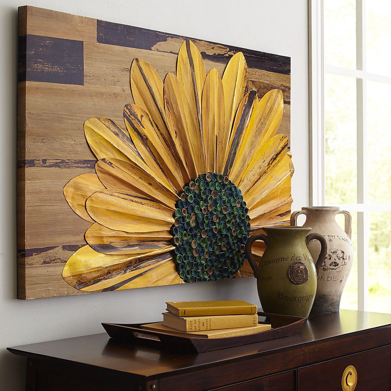 sunflower wall panel sunflower wall decor sunflower on wall art for home id=49076