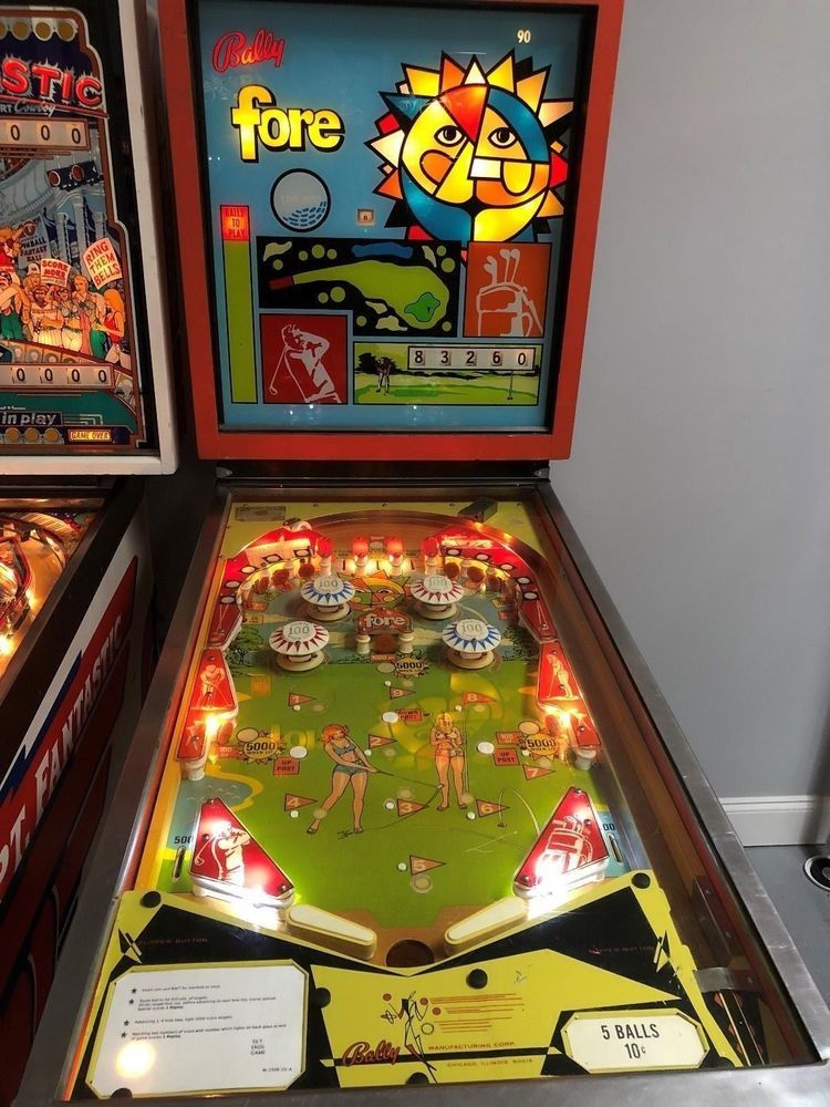 FORE PINBALL MACHINE SUPER RARE ONLY 80 MADE $399 SHIPS 1973