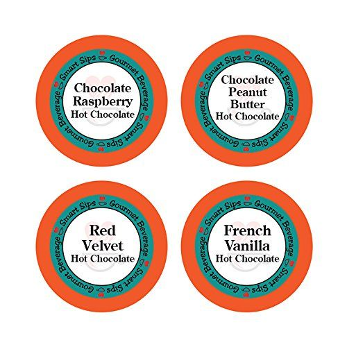 Hot Chocolate Lovers Variety Pack  Chocolate Raspberry Red Velvet Chocolate Peanut Butter French Vanilla 24 Count for Keurig Kcup Brewers -- Find out more about the great product at the image link.
