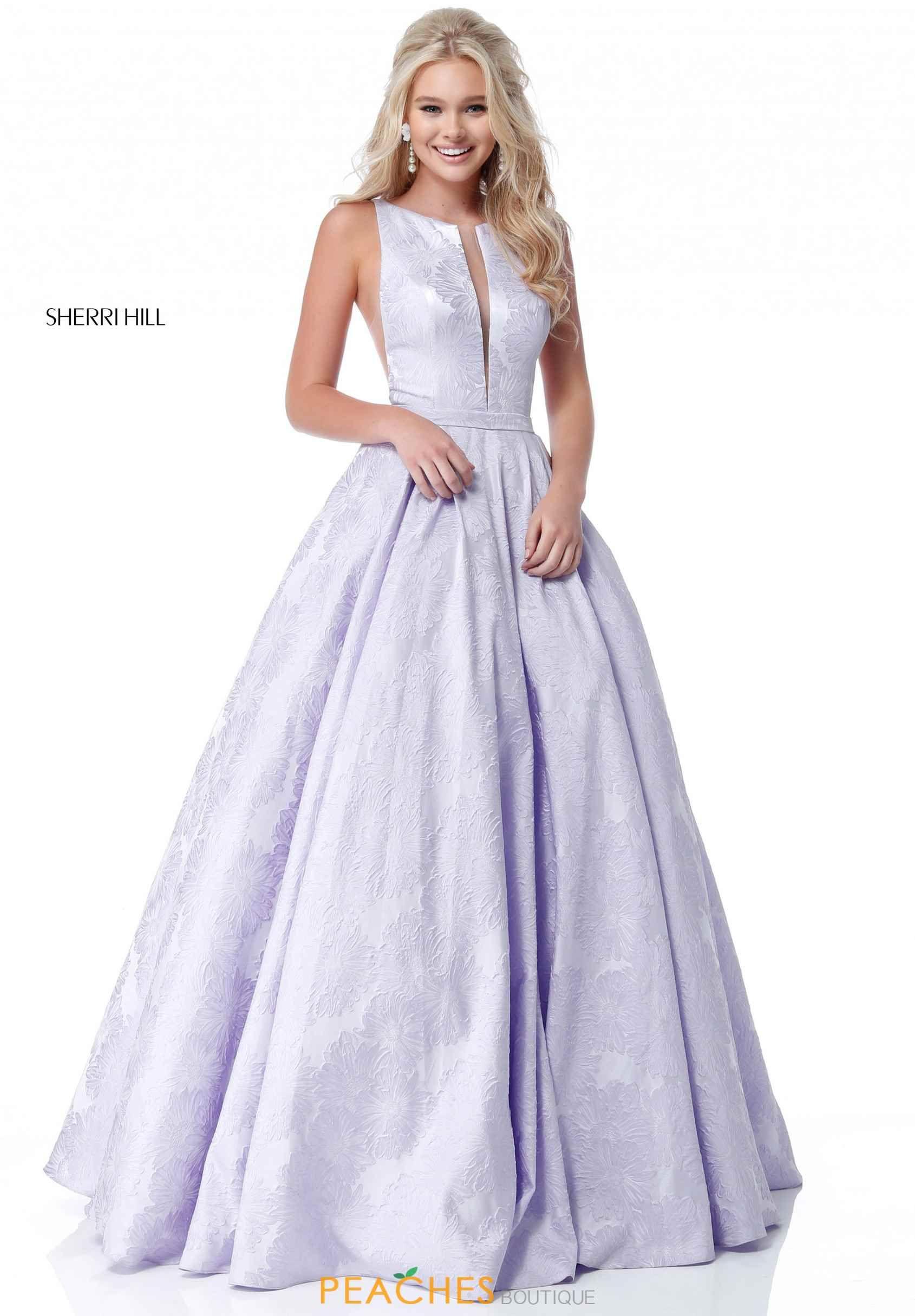Sherri hill high neckline long dress prom dresses