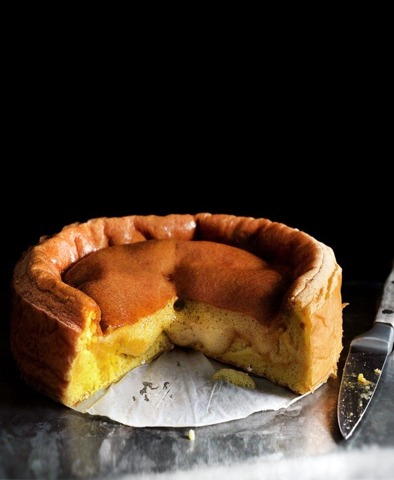 THE IMPLODING HONEY CUSTARD CAKE