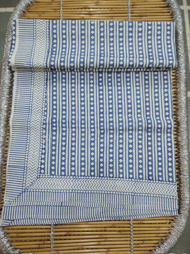 Cotton California King Bedspreads Block Print Navy Mandala Tapestry Beach Sheets