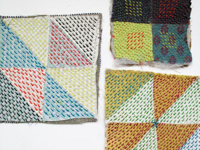 stitches .... cushion cover idea ...