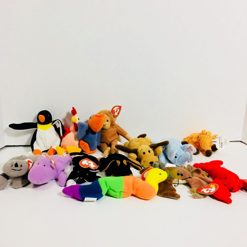 McDonalds TY TEENIE BEANIE BABIES 1998 1999 Happy Meals Toys RETIRED Lot of  14  dc544224fc86