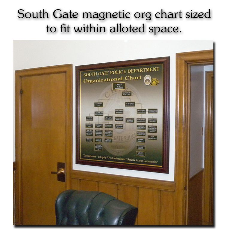 Badge Frame Org Chart Magnetic Charts  Organizational Charts