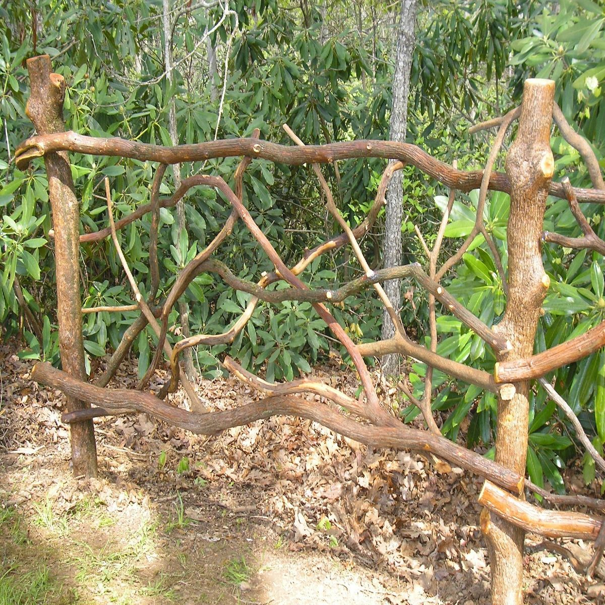 Hand made mountain laurel railing by rhodo creations