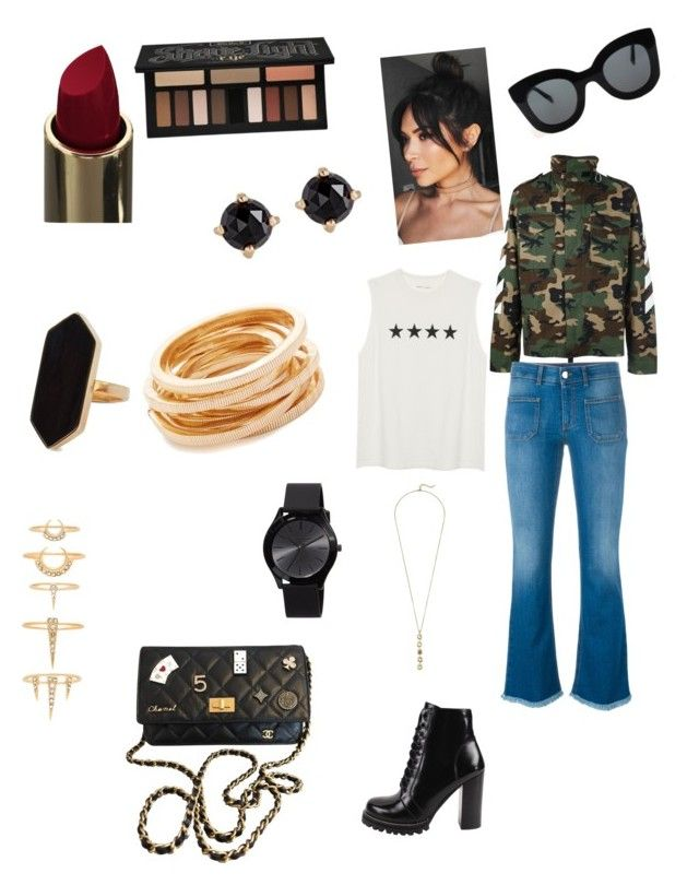 """""""Girls Day Out"""" by katyrd-1 on Polyvore featuring MSGM, STELLA McCARTNEY, Jeffrey Campbell, CÉLINE, Kenneth Jay Lane, Luv Aj, Jaeger, Kat Von D, Irene Neuwirth and MICHAEL Michael Kors"""