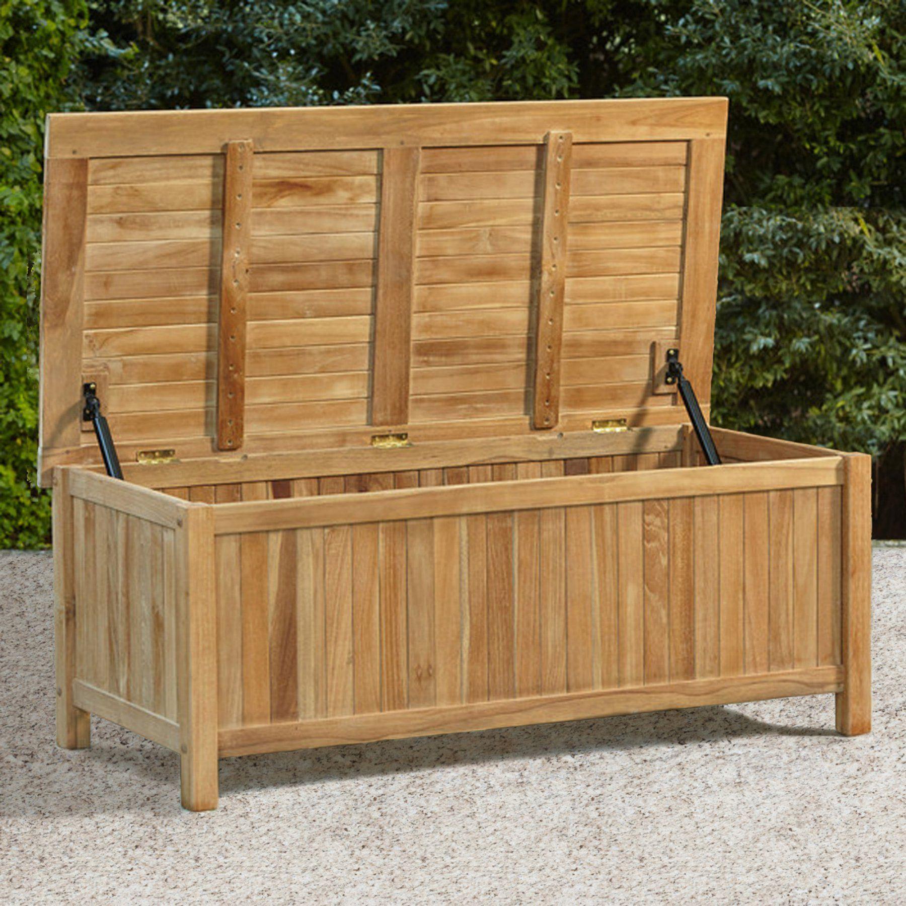 Outdoor Cambridge Casual Teak Storage Box   CC 370218
