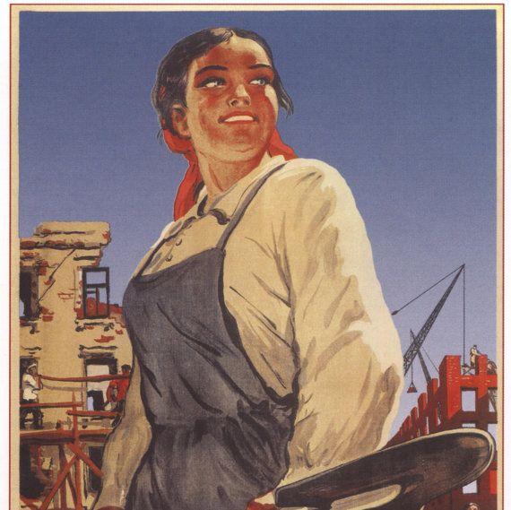 000 Old poster Stalin Lenin Propaganda poster Soviet by