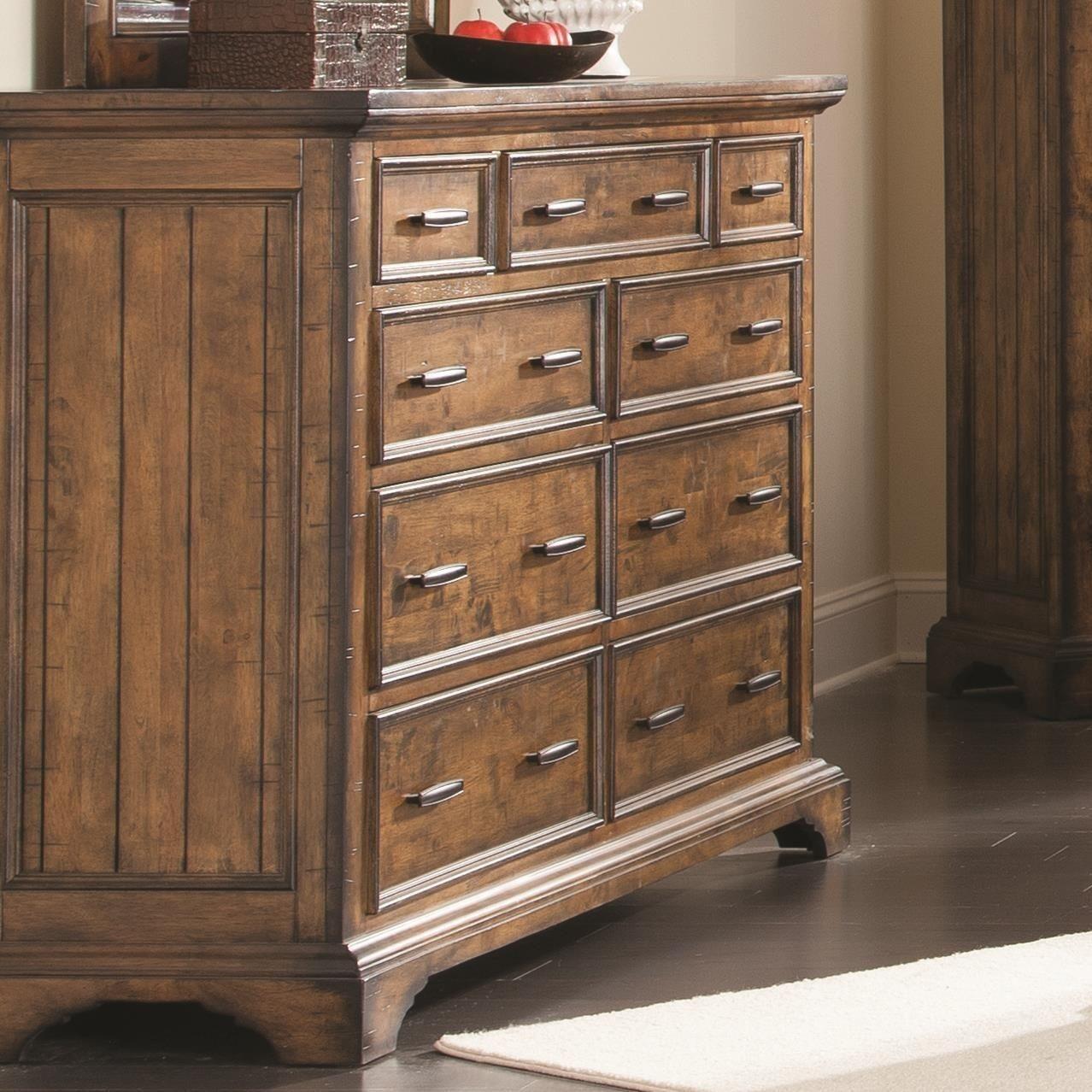 Elk Grove Vintage Bourbon 9 Drawer Dresser