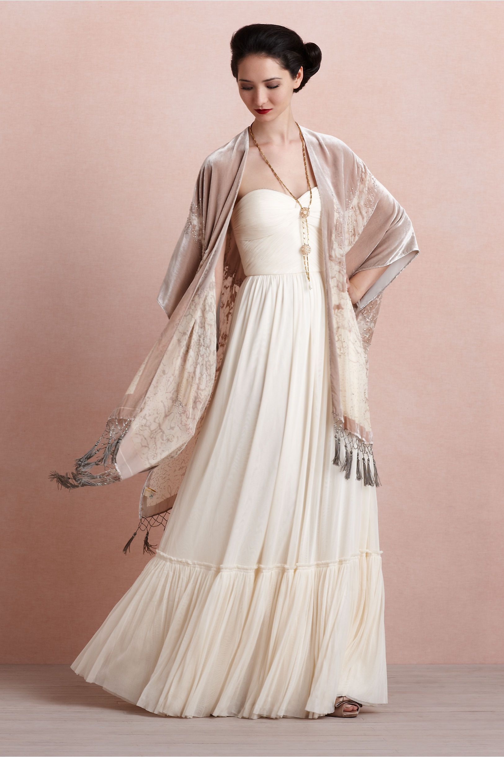 Wedding dress wrap  Enfumé Wrap in The Bride Cover Ups at BHLDN  Vintage Inspired